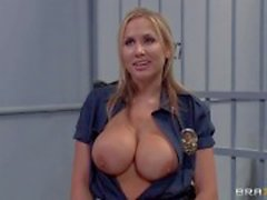 Prison guard Alanah Rae with huge boobs