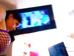 Amateur beim Zugang ible blinkende Titten auf Live-Webcam