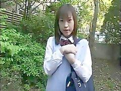 De Wakana Itsuki es una empresa joven japonesa colegiala le hace el amor ella misma