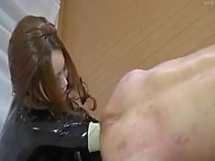 femdom anal látex de caucho Puño japonés
