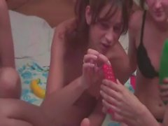 Four russisch Teens in Live Show