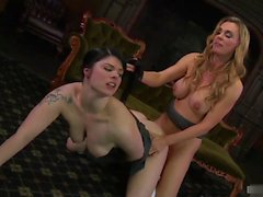 Tanya Tate and Lucia Love are skanky lesbians that dont hold back at