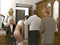 Sert öğretmen ile cezalandırılır Rus Schoolgirl