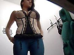 Der Tschechischen Brunette Teen ausspioniert In Sicherheits-Nocken