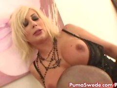Europäische blonde Puma Schwede fickt Gerechtigkeit!