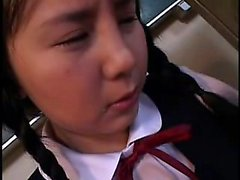 Naughty schoolgirl has to suck his dick and fuck for a good