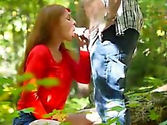 Nizza Blowjob im Wald