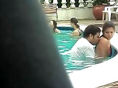 Sex in the pool.