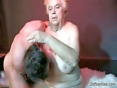 Nasty old whore gets her pussy pounded part6