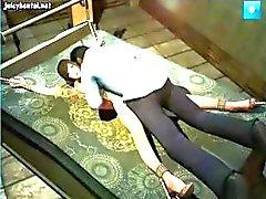 3D la fille témoin animé est se faire gangbanged par un groupe de les détenus