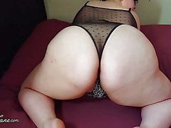 BBW Shakes Fat Ass in Lingerie