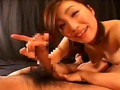Bebé de la pornografía japonesa chupa el POV