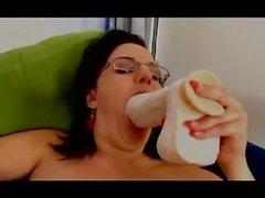 Kız olgun büyük busty külotlu çorap naylon anal fisting yapay penis 46