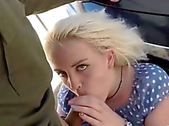 Blondie babe gets her pussy fucked by border patrol agent