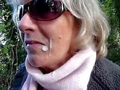 Outdoor BJ met Jasmijn de Schotse slet MILF