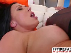 Brunette Stepmom Rachel Starr In Stockings Gets Iron Cock