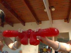Krissy Lynn and Allie Haze master deepthroat skills