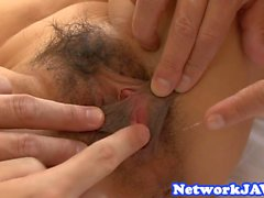 Busty asian milf loves the hard drilling