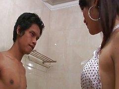Thai tranny soapy massage