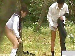 Outdoor School Girl Day Neuken Exposure