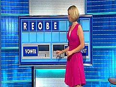 Рахель Райли - прекрасная большая Бюст розовом платье