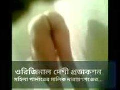 Bangladeshi Hot musulman Lady Shoots & Faire Ses Films Bleu