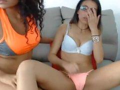 Latina Sluts kissing, licking and masturbating Pt 4