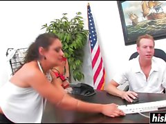 Charley Chase gets pounded on the desk