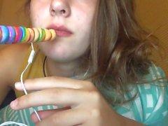 ASMR comendo lollipop