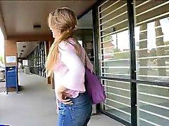 Brianna _ Teen amateur babe flashing in public