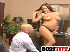 Knallte seinen sexy Chef Victoria Valentino