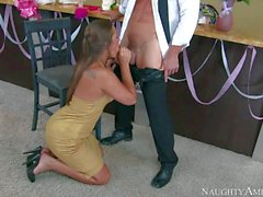 Dani Daniels gets banged hard after wedding party
