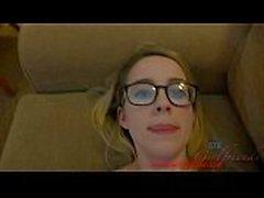 Giving ein nerdy Mädchen zwei creampies in Vegas americanteencam