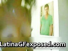 Fesses bruns de hottie Latine webcams chauds part2