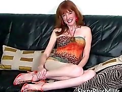 Skinny mature housewife with firm tits