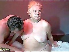 OldNanny Büyük göğüsleri nine bbw Üçlü seks sahiptir
