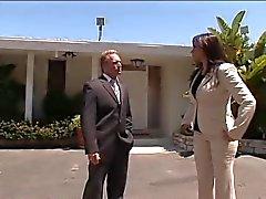 Big Tit Real Estate Agent Raylene Poolside Action