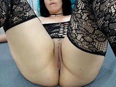 Bbw masturbating on webcam solo