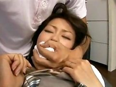 Hårig asiatisk flickvän toying