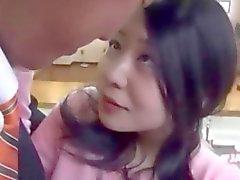 Schöner Reizvolles koreanischer Mädchen abgefickt