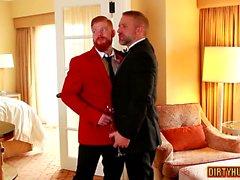 Threesome gay muscular com facial