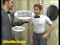 PLEASING GAY CUSTOMER 3D Cartoon Comic Anime Hentai Animated Story