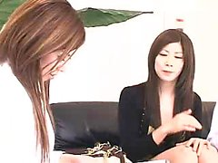 Delightful Oriental lady is introduced to the pleasures of