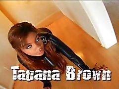 Tatiana Brown takes white meat in her ass
