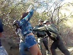 Manuel ferrara la police Kayla Ouest a été capturé patrool vigoureux du