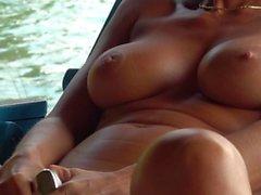 hot amateur masturbating water side squirting orgasm
