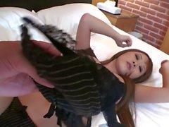 Subtitled uncensored Japanese gyaru hotel room body check HD