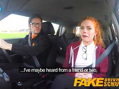 Driving School Fausse jolie rousse baise Ella Hughes