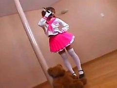 Sianhäntä Japanilaiset koulutyttö seksikäs Outfit altistaa hänet