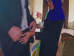 Arabian woman sucks dick and is pussy fucked for money